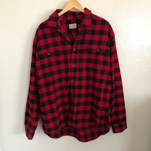 Jachs Red And Black Mens Flannel Shirt Size 2XL